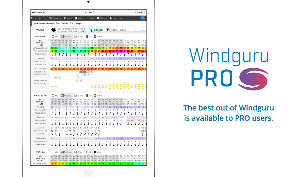 kitesurfing prognoza windguru